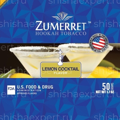 Zumerret Blue Edition Lemon Cocktail